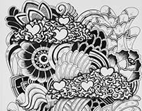 """imagination"" pen drawing"