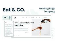 EAT & CO. – Free Coffee Shop Landing Page