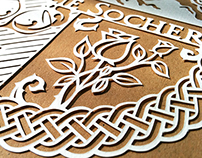 Cimmissioned bespoke papercuts