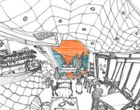 fisheye illustration