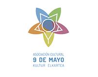 Diseño logotipo Asociación Cultural 9 de Mayo