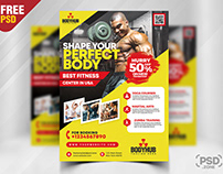 Gym Promotion Flyer PSD Template