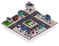 Isometric Zombie City