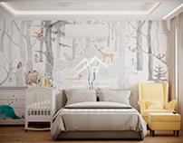 Проект интерьера спальни в современном стиле