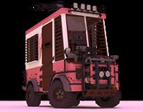 Post-apocalyptic ice cream van