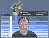 Stefano Melino - cv - infographic