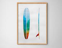 Watercolor longboard