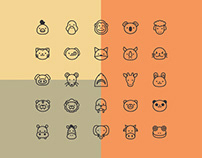 25 Animal Vector Icons