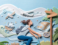SAS Publisher. Paper sculptures.