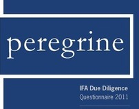 Peregrine IFA Due Diligence Questionnaire