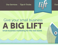 Lift Marketing Site Concept