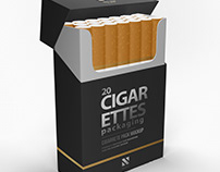 Pack Cigarettes Mockup