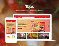 Tops Grocery Website Redesign