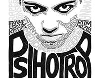 Psihotrop Typeface Illustration
