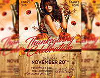 Thanksgiving Celebration Flyer - Autumn A5 Template