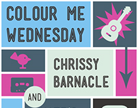 Colour Me Wednesday Poster (2014)