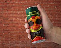 Tiki Party Beer Can