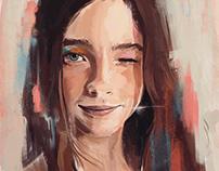 Sketch portrait.
