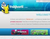 Takharii.com Website Re-Design