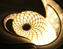 Cocoon Lamp 2nd Version, 3d Printed