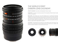 World' First Camera Lens Calendar
