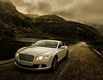 Bentley, flying up the Gotthard