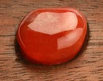 wooden pendants with stones