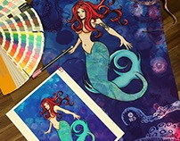 """Not So Little Mermaid"" Legging Artwork"