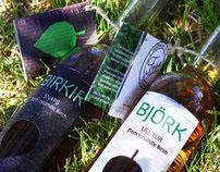 Packaging design for Björk and Birkir