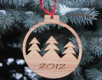 Wooden decoration for Christmas Tree
