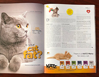 Print Ad for Valemount product - Katz Menu