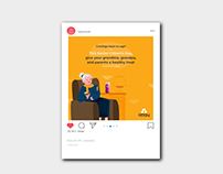 Senior Citizen's Day Social Media Campaign - Omay