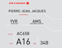 Canada Airline Boarding Pass Design