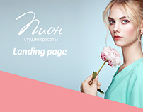 Landing page fo beauty salon
