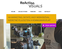Reaction Visuals weblap tervezés