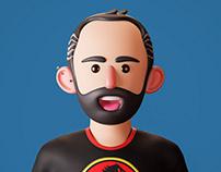 Self portrait - comic-ish style