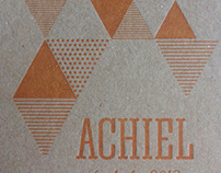 Achiel, birth card