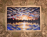 Sun ray painting frame