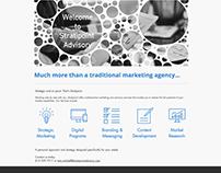Stratipoint Advisory logo and web design