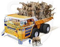 BelAZ Truck | Size Comparison | Stuart Jackson-Carter