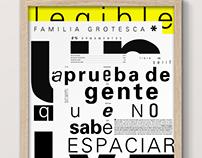 Espécimen tipográfico  / UNIVERS FONT
