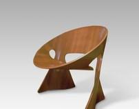 MÖBIUS Laminate chair for BECKER