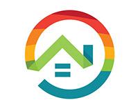 LGBTQ Real Estate Branding logo and Icon