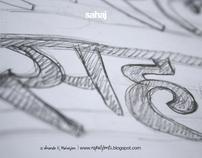 Devanagari Type Design Sketches #2