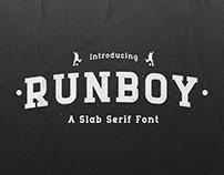 Runboy - Strong Slab Serif Font