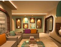 Reception &Dining Interior Design