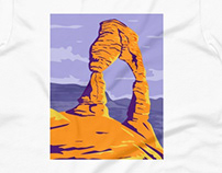 Delicate Arch Moab Grand County Utah WPA Poster