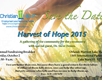 Harvest of Hope Save the Date Invitation Postcard