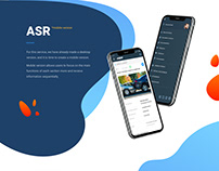 ASR Mobile version UX, UI design