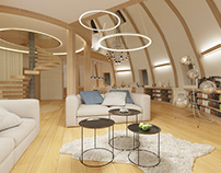 Interiors of the round house in Rostov-on-Don